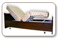 Electric Motorized Bed with adjustable Mattress look like normal wooden bed to match interior of home.