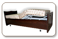 Folding Semi-Metal Bed operated by electronic remote control for proper cure of arthritis patients.
